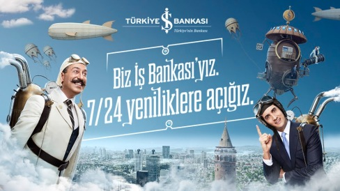 Campagne de pub de la banque IS Bankasi, pour son nouveau produit Paracod, un systeme de paiement par smartphone.