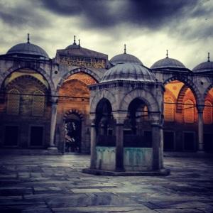 cour interieure mosquée bleue