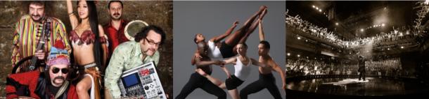 De gauche à droite: Baba Zula,Giordano Dance Chicago et Red Bull BC One