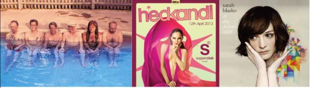 De gauche à droite: Swans, Hed Kandi et Sarah Blasko