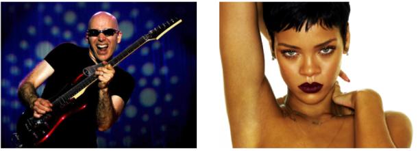 Joe Satriani et Rihanna