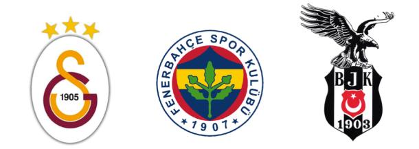 Galatasaray, Fenerbahce et Besiktas
