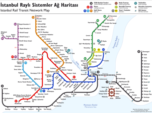 carte des M1,M2 et tramway et funiculaires