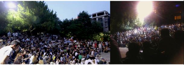 Debats dans le parc d'Abbasaga a Besiktas