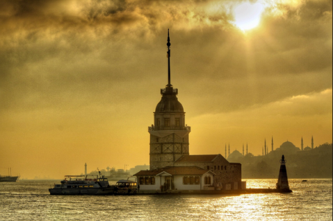 La tour de Léandre (Kiz Kulesi) en turc.