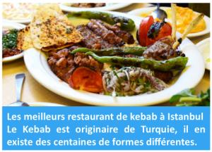 Kebab (ou kebap) signifie « grillade » ou « viande grillée » et désigne différents plats à base de viande grillée.