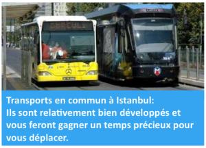 Istanbul s'étend sur plus de 5000km², se déplacer n'est pas toujours évident car d'une part c'est l'une des villes les plus embouteillés du monde