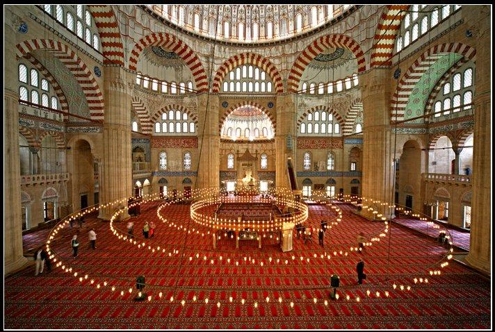 Intérieur de la mosquée de Süleymaniye